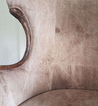 Close-up of the design upholstery. Home decor boutique in Singapore