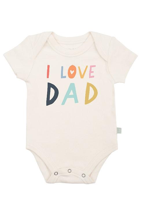 Love Dad Organic Cotton Bodysuit by Finn & Emma