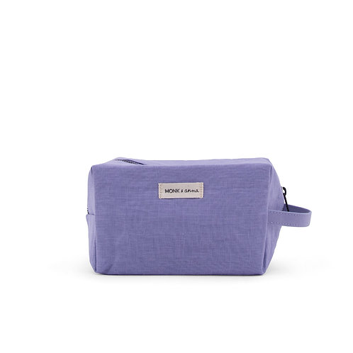 Linen Toiletry Bag - Lilac