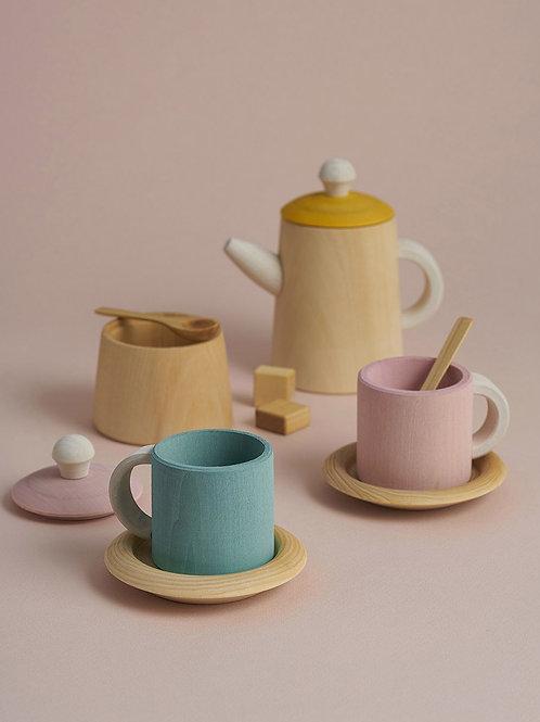 Mustard and Pink Tea Set by Raduga Grez