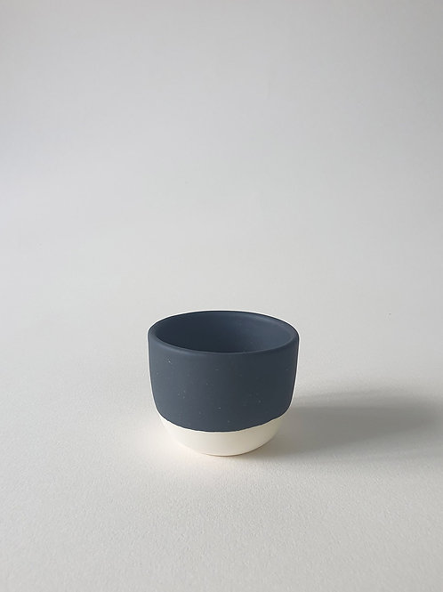 Black and White Porcelain Cup by NOK Studio