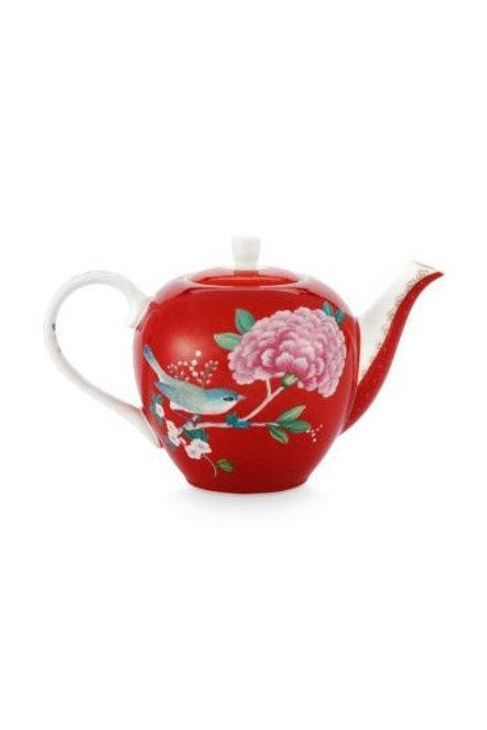 Teapot Blushing Birds Red 750 ml by Pip Studio
