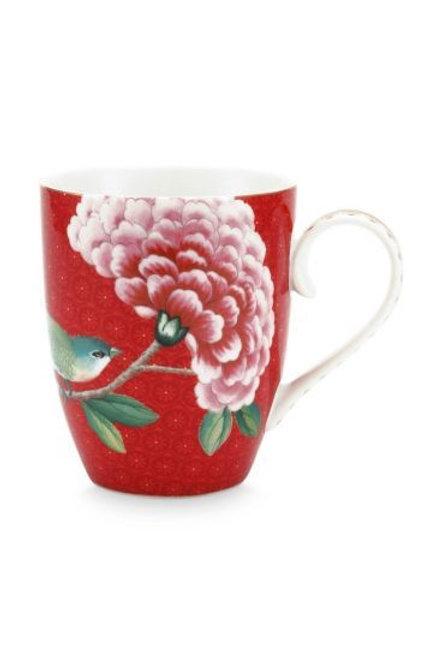 Mug Blushing Birds Red by Pip Studio