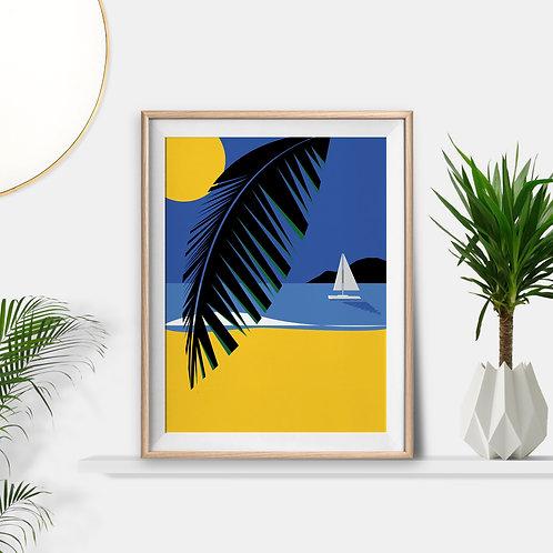 Tropical Island Life Print by Keeler & Sidaway