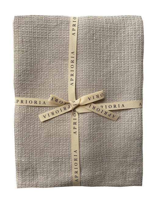 Linen Towel by Aprioria: Silver