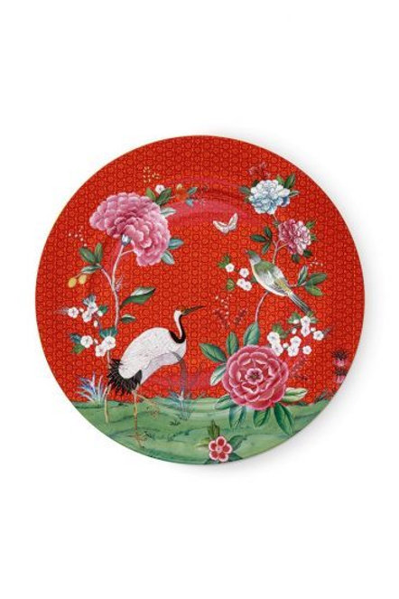 Plate Blushing Birds Red 32 cm by Pip Studio