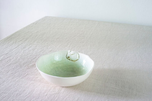 Green Rabbit Large Bowl by Natalia Nechaitchik