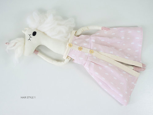 Handmade Toy Unicorn in a Dress