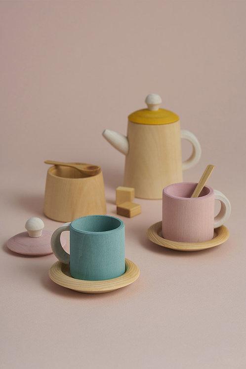 Mustard and Pink Tea Set