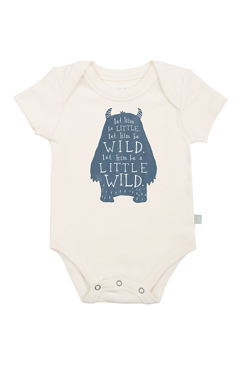 Wild Child Organic Cotton Bodysuit by Finn & Emma