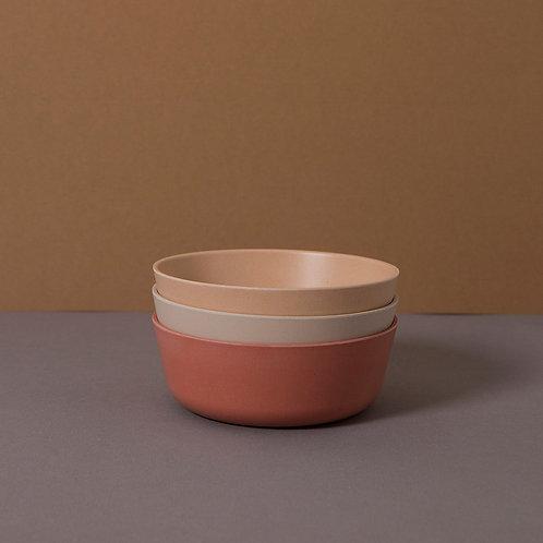 Bamboo Bowl 3-Pack: Fog/Rye/Brick