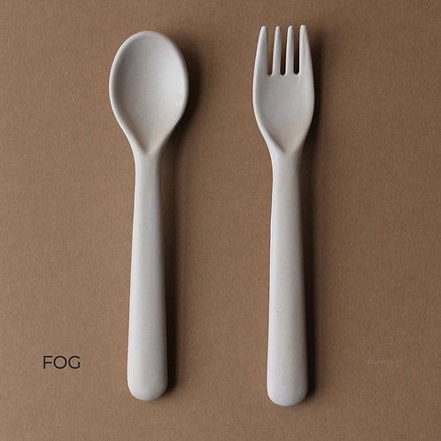 Bamboo Cutlery Set: Fog/Rye/Brick/Ocean/Beet