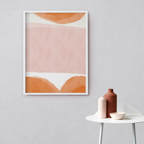 Abstract Watercolor Print by Anna Pepe, Signed