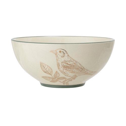 Rio Bowl, Stoneware, White
