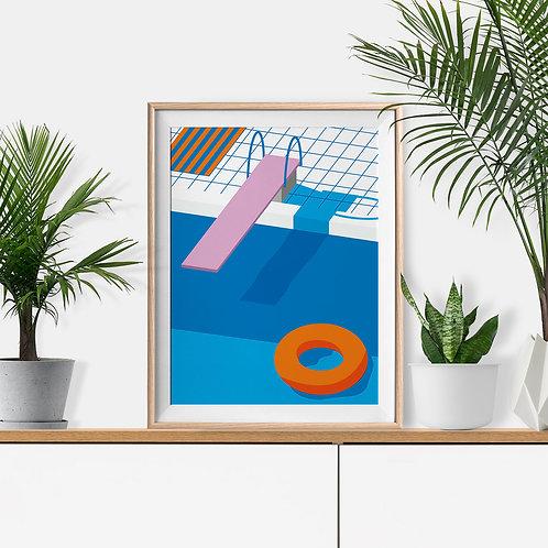 Diving Board Print by Keeler & Sidaway