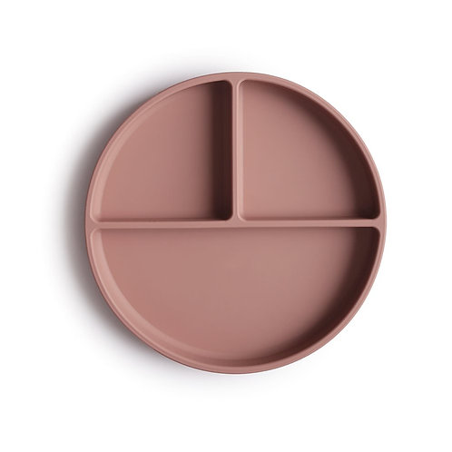 Silicone Suction Plate by Mushie: Cloudy Mauve