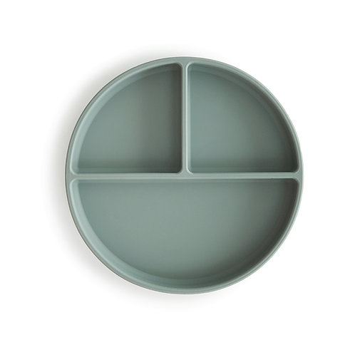 Silicone Suction Plate by Mushie: Cambridge Blue