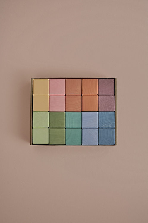 Earth Pastel Cubes Set