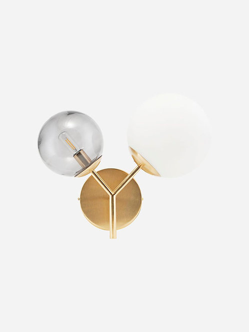 Twice Wall Lamp Brass by House Doctor