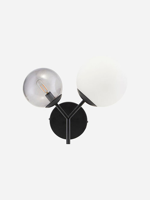 Twice Wall Lamp Black by House Doctor