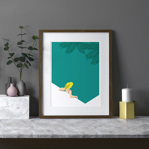 The Tropical Bathing Art Print by Keeler & Sidaway
