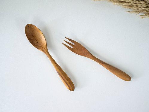 Teak Wood Handmade Cutlery Set
