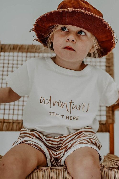 Boxy T-Shirt - Adventures Start Here