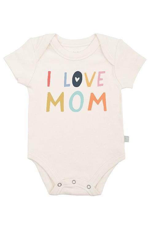 Love Mum Organic Cotton Bodysuit by Finn & Emma