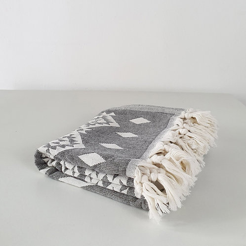 Bergama Towel: Grey