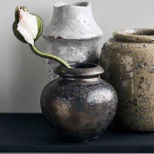 Brass Brown Mini Vase