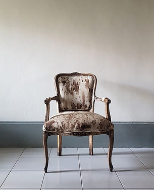 Vintage armchair, reuphostery and styling