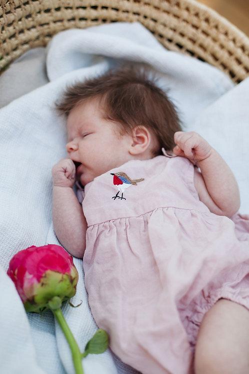 Linen Baby Romper
