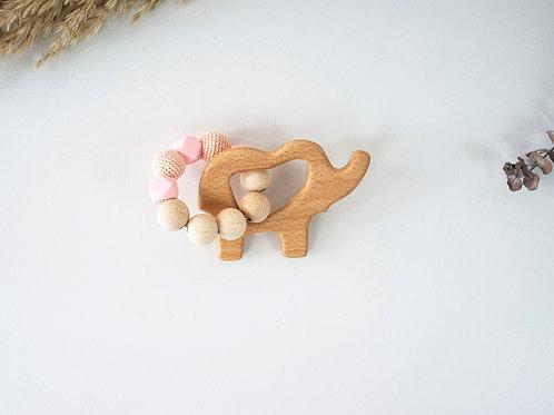 Elephant Teething Ring: Pink