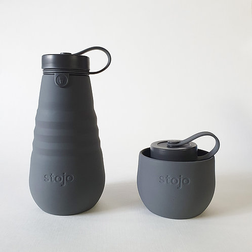 Stojo Collapsible Bottle -Carbon