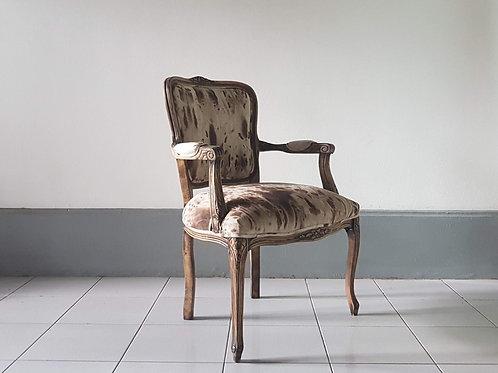 Soft vintage chair. Artistic process. Handmade