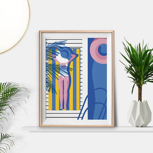 Sunbathing Art Print by Keeler & Sidaway