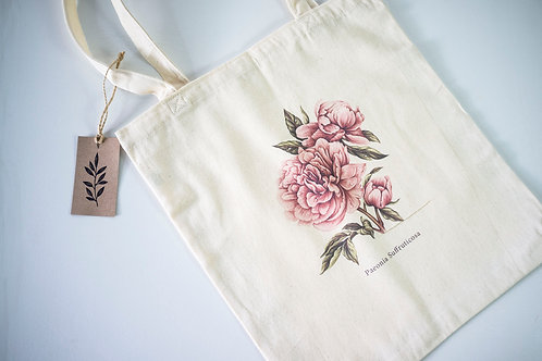 """PEONY"" Shopper by The Botanic Bags Studio"