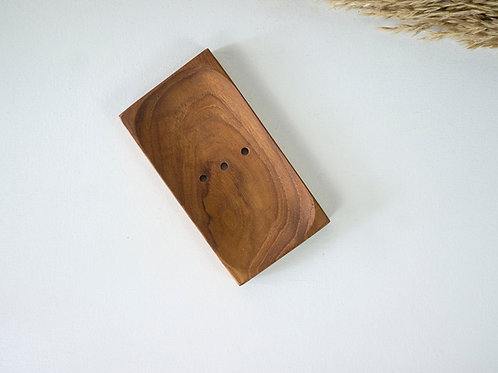 Teak Wood Handmade Soap Dish
