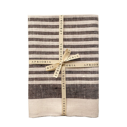 Linen Towel by Aprioria: Striped