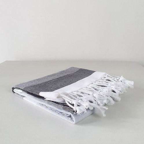 Bismil Towel: Black & Grey