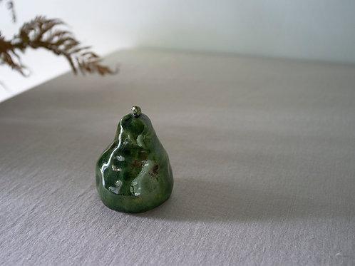 Green Handmade Ceramic Pear
