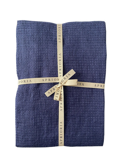 Linen Towel by Aprioria: Navy Blue