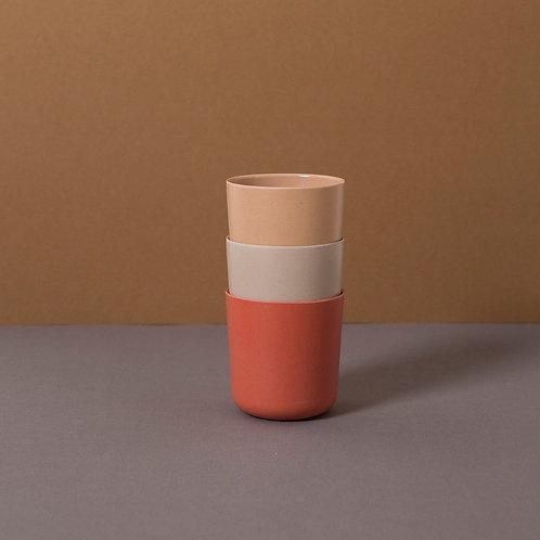 Bamboo Cup 3-Pack: Fog/Rye/Brick