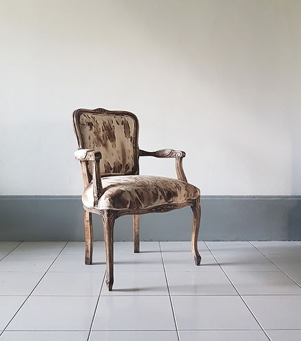 Design vintage chair. Reupholstery in Singapore