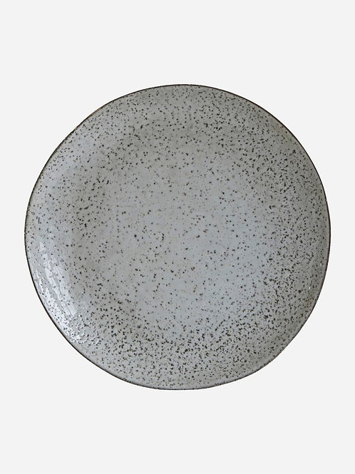 Rustic Light Grey Dinner Plate by House Doctor