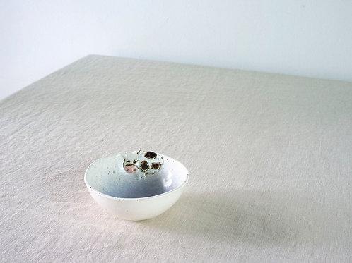 Blue Cow Small Bowl by Natalia Nechaitchik