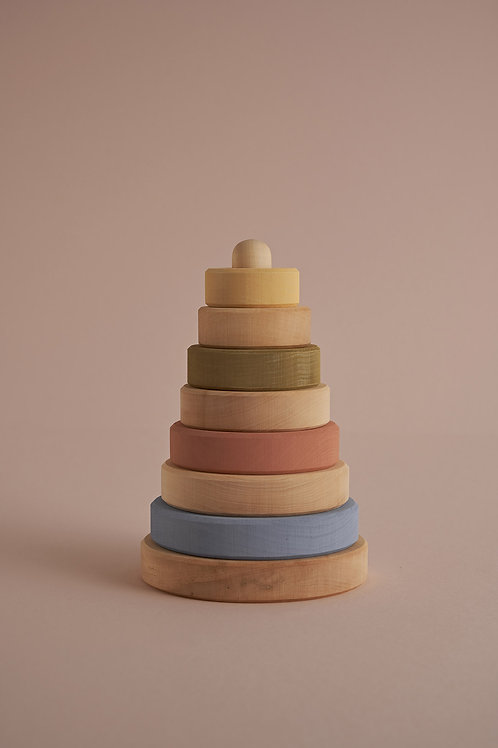 Pastel and Natural Stacking Tower