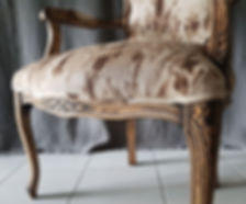 Close-up of upholstery details. Design furniture in Singapore