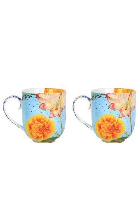 Gift Set of 2 Mugs Large Royal by Pip Studio