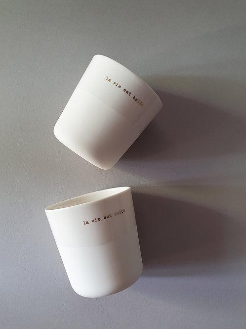 """""""La Vie Est Belle"""" Cup by Sophie Masson"""